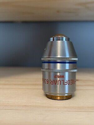 Zeiss Microscope Objective Lens Plan Neofluar 630.90 Pol No. 460818 1600.17