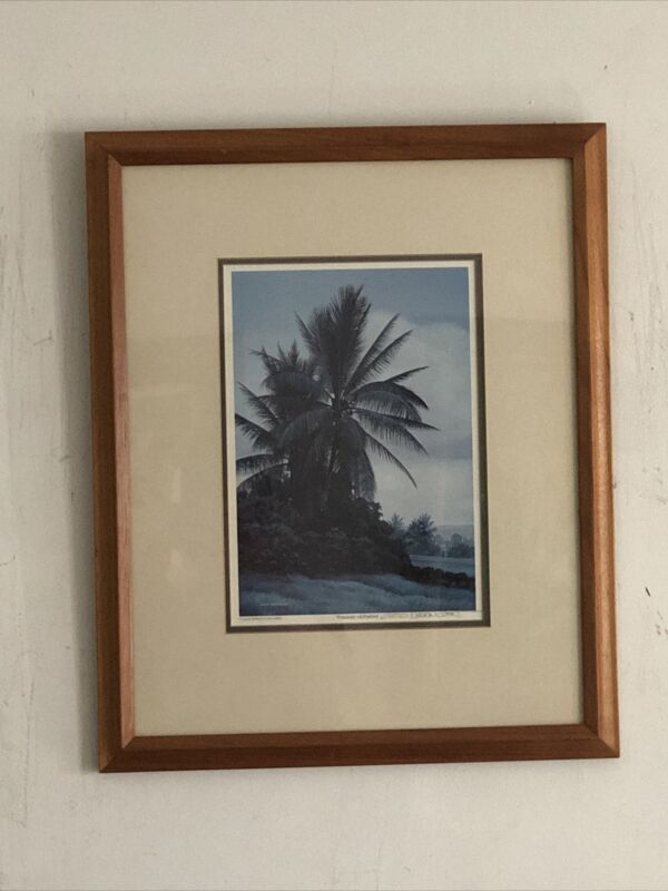 """Signed Curtis Wilson Cost 1982 Color print """"Pasture Of Palms"""" Framed Matted"""