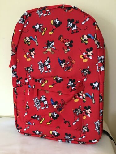 NWT Disney Store Mickey Mouse Backpack School Adult Through The Years