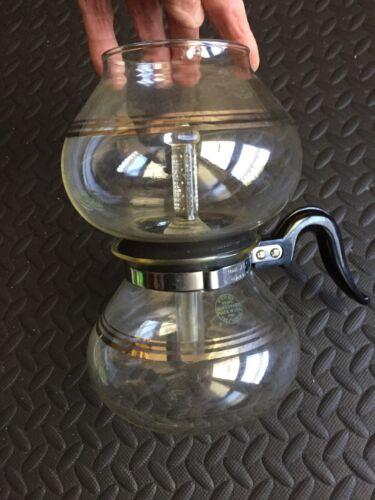 Vintage Silex glass vacuum coffee maker, glass rod, 32 oz