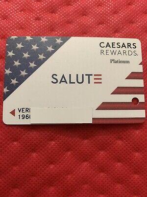 Caesars Rewards Platinum SALUTE Card Prefix #196 No Expiration ©️2021