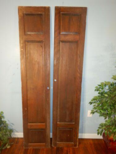 "Pair of Raised Paneled solid Birch Doors 75"" high"