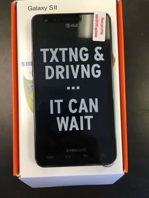 New Samsung Galaxy S2 II SGH-I777 - 16GB - Black (AT&T) Smartphone Unlocked