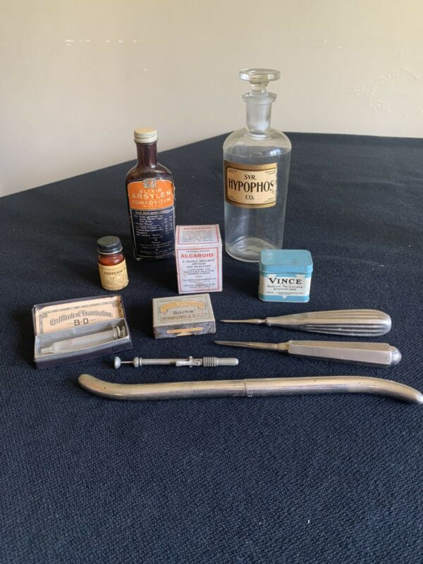 Lot Of Vintage/Antique Pharmacy/ Medical Items #2