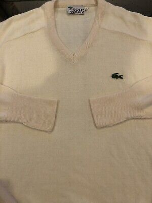 Izod Lacoste Large Long Sleeve Pullover Sweater