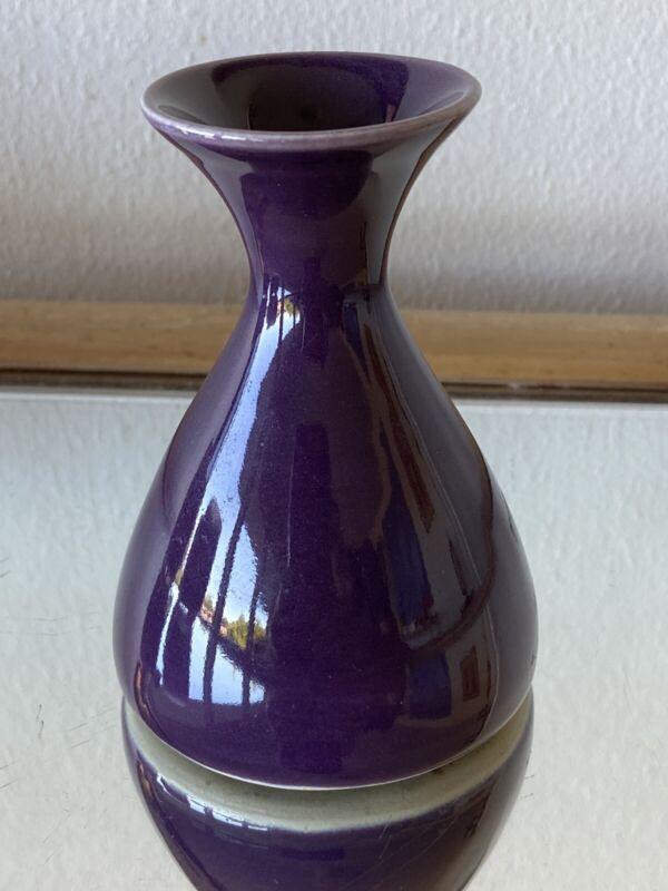 LB Lauren Burman Little Shirley Vase Purple  Glassybaby Seattle Interest
