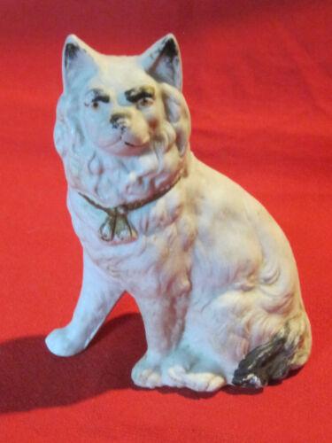 Vintage porcelain bisque Eskimo Samoyed Spitz dog figurine