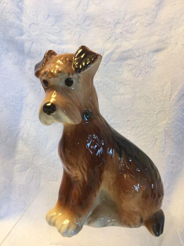 Vintage Royal Copley Terrier Dog Figurine Ceramic Sitting