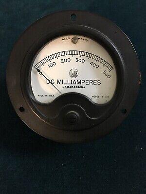 Vintage Dejur Milliamperes Dc Meter Gauge 0-500 Model S-310