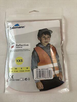 Salzmann Safety Vest 3m Reflective Material High Visibility Xxs Orange New