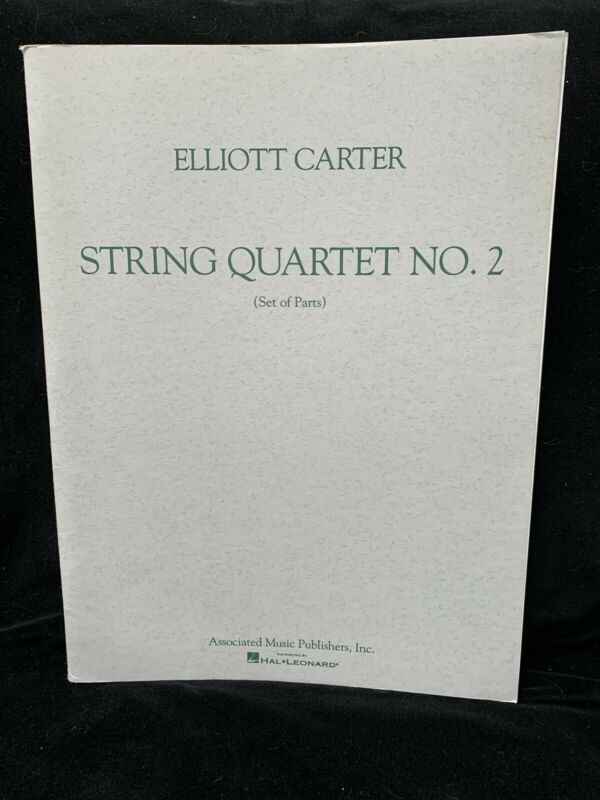 CARTER, ELLIOTT -  String Quartet #2 - SET OF 4 PARTS - AMP - NEW / NOS