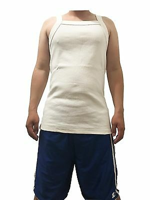 G UNIT Square Cut Ribbed Tank Top Undershirt Wife Beater Mens Cotton White XL