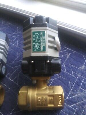 Quarter Turn Valve 24vdc Electric Actuator W 1 Npt Brass Ball Valve