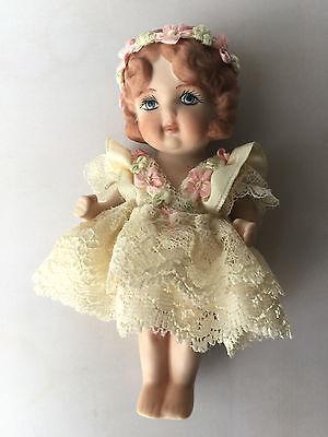 """Frozen Charlotte Vintage Japan Miniature 5"""" Doll Porcelain Bisque"""