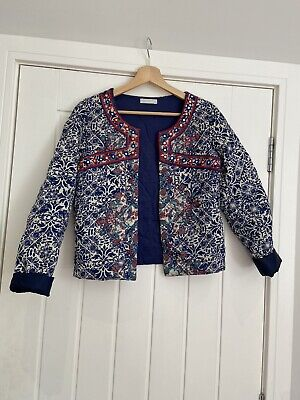 Embroidered Quilted Nomad Jacket - Size Small  UK 8 - Isabel Marant