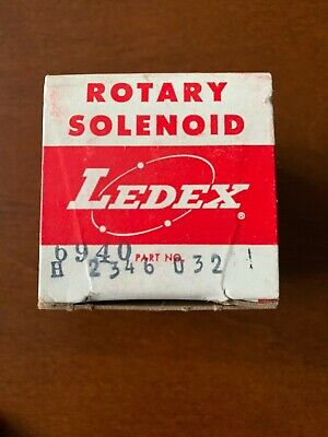 Ledex H-2346-032 Rotary Solenoid New Old Stock Factory Sealed In Original Box