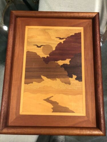 INLAID WOOD MARQUETRY PICTURE