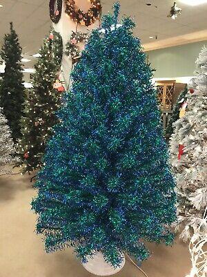 Rare Vintage 7' Teal Aluminum Christmas Tree ()