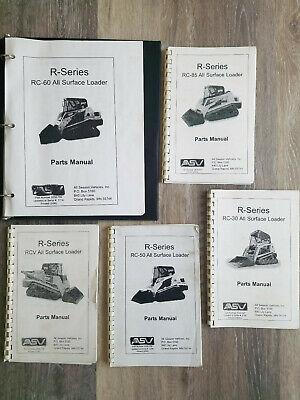 Asv R-series Parts Manual Rc-30 Rc-50 Rc-60 Rc-85 Rcv Pick Your Model 2006