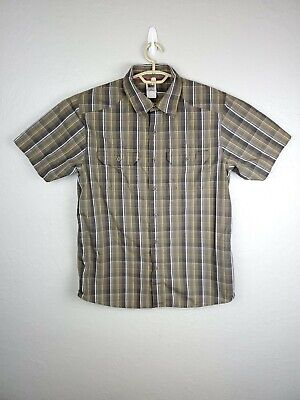 The North Face Men's Plaid S/S Button Down Hiking Shirt Size Medium pre owned
