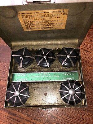 Jacobs Rubber Flex Lathe Collets J910 - J914 116 - 1 58 Excellent
