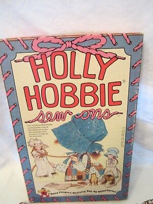 Vintage 1970's Colorforms Holly Hobbie Sew Ons Paper Dolls Boxed