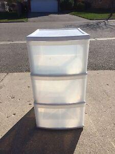 Plastic Storage Unit with Drawers