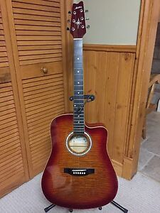 Acoustic /electric dreadnought guitar