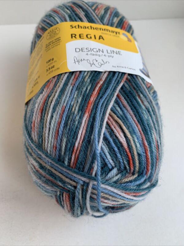 Schachenmayr Regia Sock Yarn Design Line Arne & Carlos 4-ply 100g  Col#3657 Blue