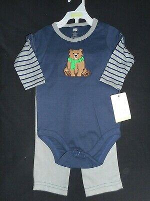 Boys 'HUDSON BABY' Long-Sleeve BODYSUIT & TROUSERS, AGE 6-9 MONTHS, NWT.