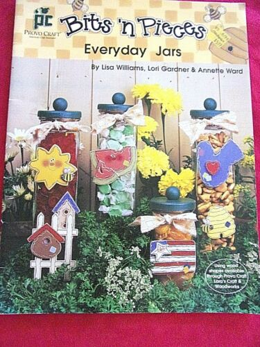 "VTG 1997 DECORATIVE TOLE  PAINTING PATTERN BOOK"" BITS & PIECES EVERYDAY JARS"""