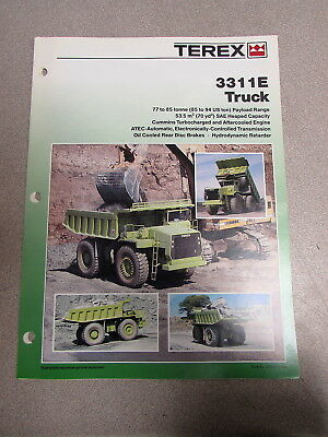 Terex 3311e Truck Color Specs Brochure Manual 385 1989