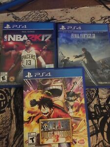 PS4 GAMES (One Piece Warriors3+2K17+Final Fantasy XV)