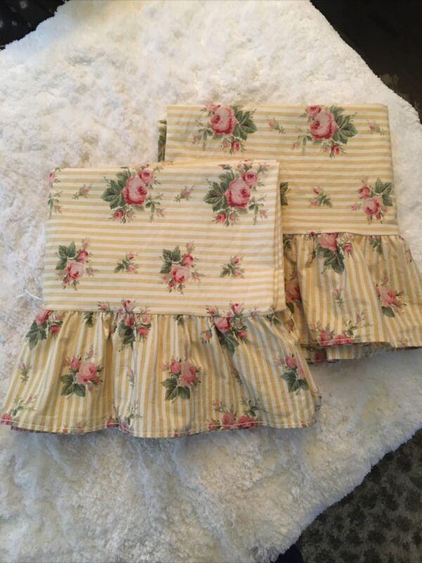Vintage Ralph Lauren PAIR Sophie Brooke Std Pillowcases.