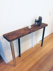 VINTAGE BARN BEAM CONSOLE TABLE RECLAIMED WOOD HALL WAY FOYER