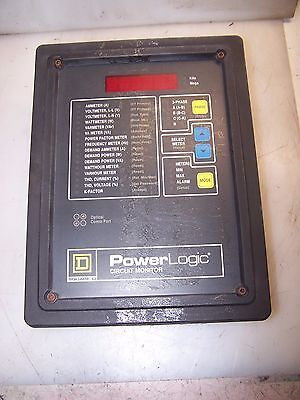 Square D 3020 Cm-2350 Power Logic Circuit Monitor