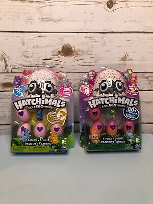 Lot of 2, Hatchimals CollEGGtibles Season 4 Hatch Bright 4 Pack + Bonus