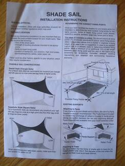 BLACK SHADE SAIL (BRAND NEW) Parkwood Canning Area Preview