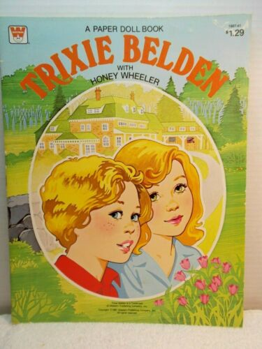1981 Trixie Belden with Honey Wheeler Paper Doll Book--Uncut