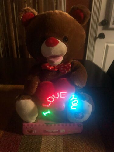 "Valentine Animated Bear With Fan That Says ""I Love You"" And Sings ""Classic"""
