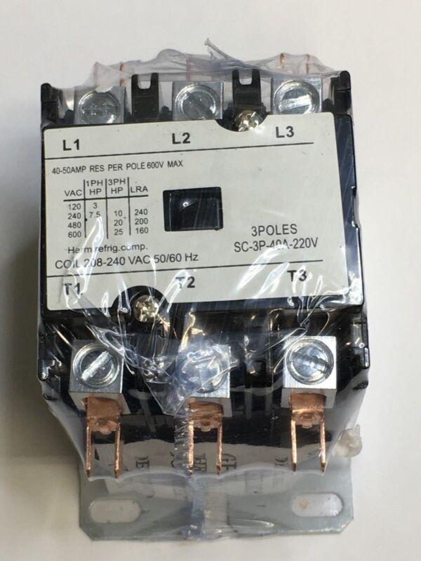 CONTACTOR 40 amp 2 pole 120V AC coil Definite Purpose Relay 40A FL 50 AMP FS