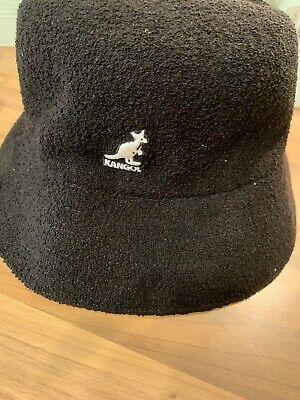 Kangol Bermuda Bucket Hat Black Size L/XL Bnwt