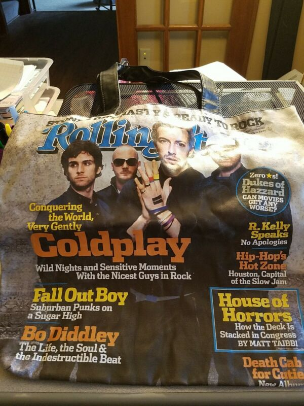 Rolling Stone Original issue cover Handbag Coldplay Fallout Boy R. Kelly
