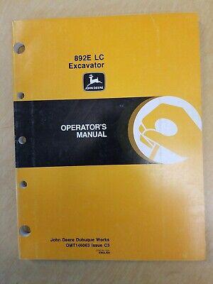 John Deere 892e Lc Excavator Operators Manual Omt 146063