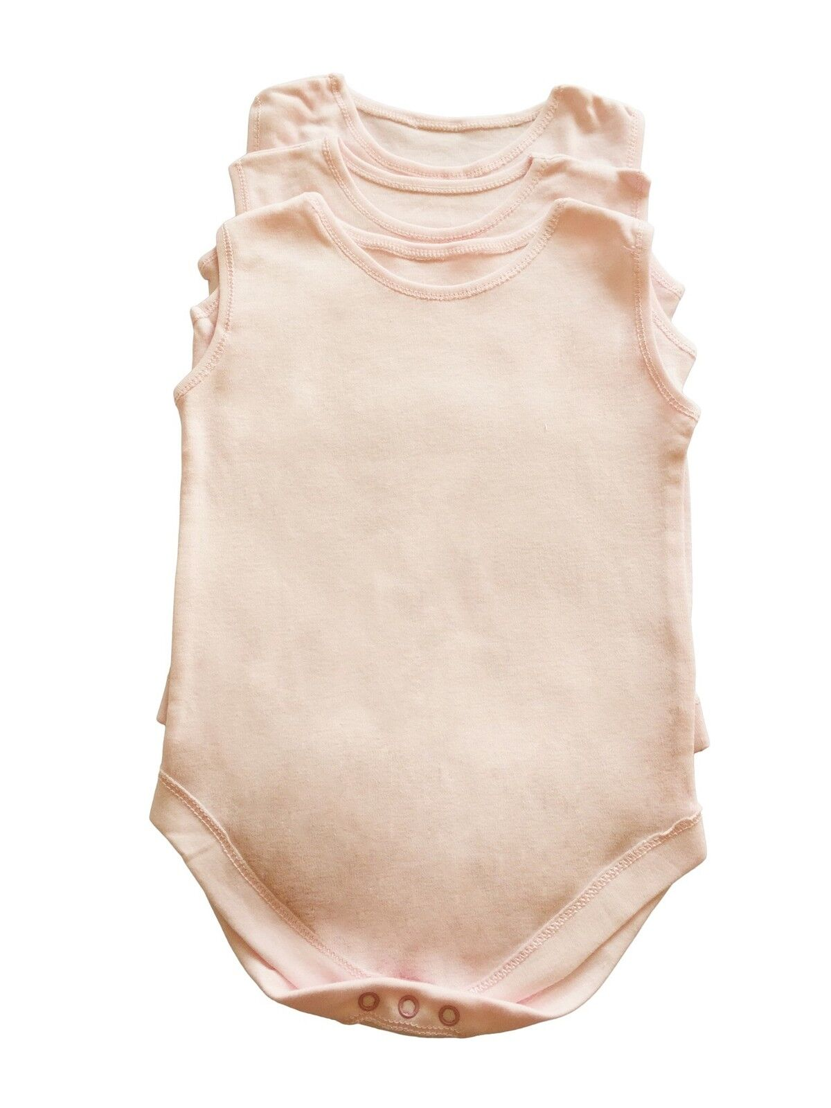 grow free P/&P in ages 0 to 24 months romper 6 pink sleeveless baby body vests