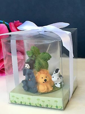 12-Baby Shower Animals Safari Candles Party Favors Jungle Table Decorations Noah - Candle Baby Shower Favors