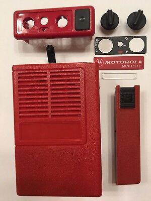 New Oem Motorola Minitor Ii 2 Housing Refurb Kit - Red