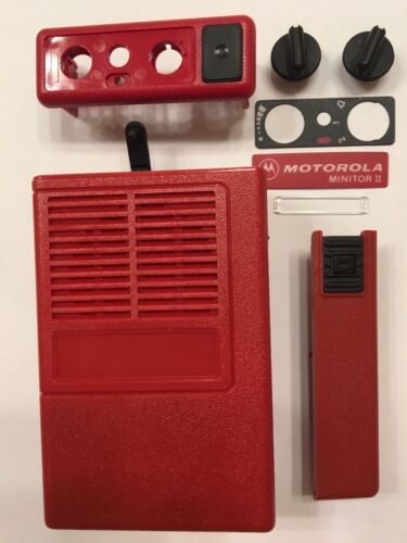 New OEM Motorola Minitor II (2) Housing Refurb Kit - Red