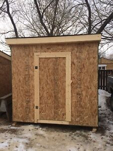 New wooden shed -6 by 8- Ice Shack