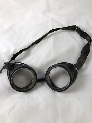 Vintage Welding Motorcycle Steampunk Goggles Clear Lense
